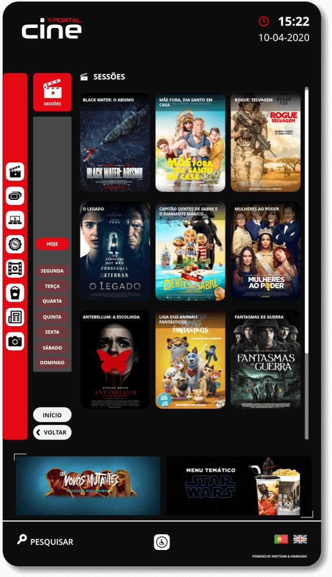 YPortal Cine - Layouts